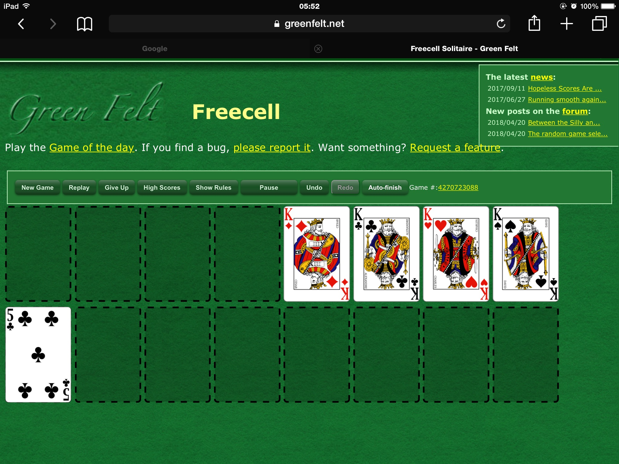 Greenfelt Freecell